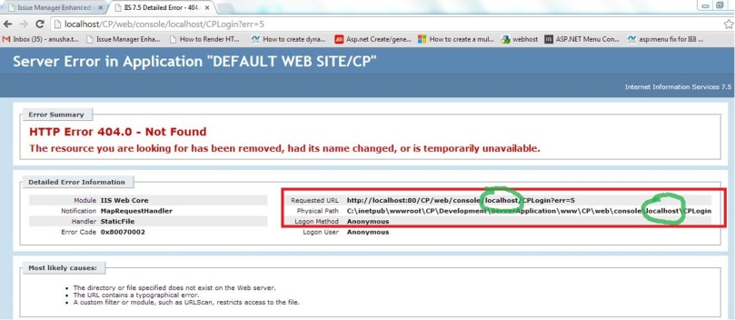 localhost being appended automatically