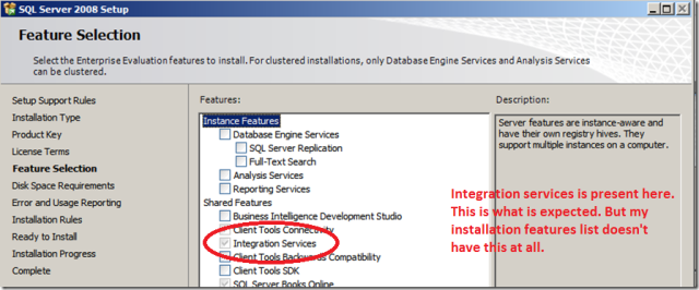 sql server with integration
