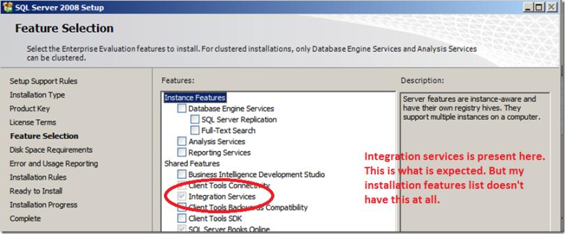 sql server with integration